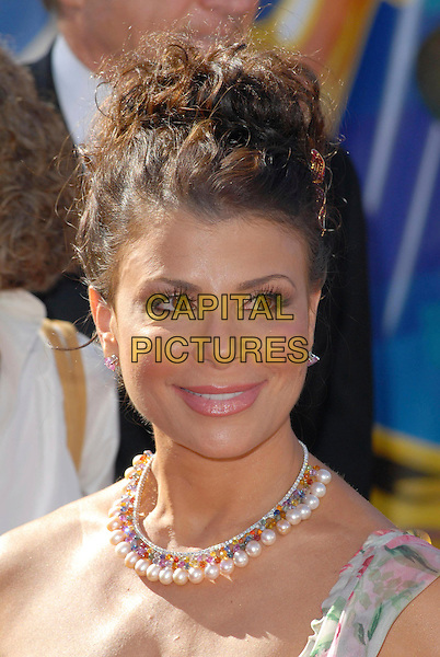 PAULA ABDUL.58th Annual Primetime Emmy Awards held at the Shrine Auditorium, Los Angeles, California, USA..August 27th, 2006.Ref: ADM/CH.headshot portrait necklace pearl.www.capitalpictures.com.sales@capitalpictures.com.©Charles Harris/AdMedia/Capital Pictures.