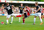 Nederland, the Netherlands, Oldenzaal, soccer friendly, 21-07-2015, Quick 20 vs Southampton striker Graziano Pelle (C) soort, scores a goal<br /> Southampton's photo by Michael Kooren