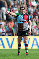 Tom Guest of Harlequins during the Aviva Premiership match between Harlequins and Sale Sharks at The Twickenham Stoop on Saturday 15th September 2012 (Photo by Rob Munro)