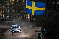 13th February 2020, Torsby base and Karlstad, Värmland County, Sweden; WRC Rally of Sweden, Shakedown event;  Jari-Matti Latvala (FIN) - Miikka Anttila (FIN) - Toyota Gazoo Racing