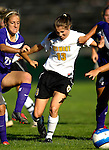 31 August 2007: University of Vermont Catamounts Caitlin McGowan (13), in action against the University of Central Arkansas Sugar Bears at Historic Centennial Field in Burlington, Vermont. The Catamounts defeated the Sugar Bears 1-0 during the TD Banknorth Soccer Classic...Mandatory Photo Credit: Ed Wolfstein Photo
