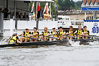Race: 59 - Event: PE - Berks: 166 HAMPTON SCHOOL - Bucks: 181 SCOTCH COLLEGE, MELBOURNE, AUS<br /> <br /> Henley Royal Regatta 2017<br /> <br /> To purchase this photo, or to see pricing information for Prints and Downloads, click the blue 'Add to Cart' button at the top-right of the page.