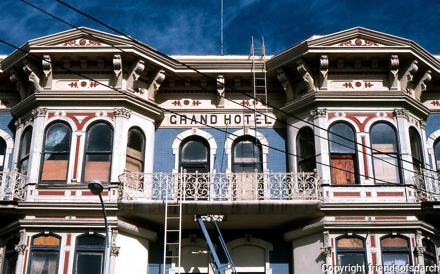 San Diego: Grand Hotel, 1888. Upper Facade.  (Photo '81)
