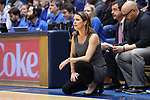 DURHAM, NC - FEBRUARY 04: Duke head coach Joanne P. McCallie. The Duke University Blue Devils hosted the University of Notre Dame Fighting Irish on February 4, 2018 at Cameron Indoor Stadium in Durham, NC in a Division I women's college basketball game. Notre Dame won the game 72-54.