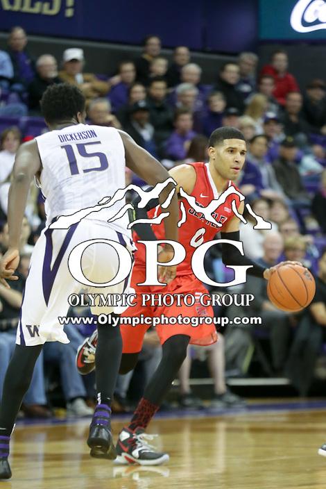 DEC 22, 2015:  Seattle University's Brendan Westendorf against Washington. Washington defeated Seattle University 79-68 at Alaska Airlines Arena in Seattle, WA.