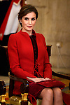 Queen Letizia of Spain attends the Order of Golden Fleece (Toison de Oro), ceremony at the Royal Palace. January 30,2018. (ALTERPHOTOS/Pool)