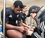 Team Doctor Deborah Robinson tends to an injured Sitiveni Sivivatu after the Iveco rugby union international test match between the All Blacks and Canada at Waikato Stadium, Hamilton, New Zealand on Saturday 16 June 2007. The All Blacks won the match 64 - 13.