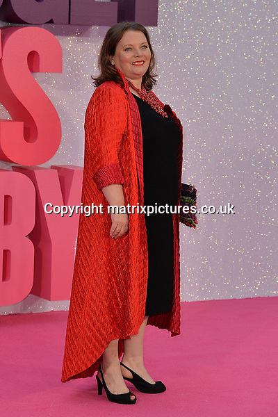 NON EXCLUSIVE PICTURE: MATRIXPICTURES.CO.UK<br /> PLEASE CREDIT ALL USES<br /> <br /> WORLD RIGHTS<br /> <br /> English actress and screenwriter Joanna Scanlan attends the world premiere of &quot;Bridget Jones's Baby&quot; at Leicester Square in London.<br /> <br /> SEPTEMBER 5th 2016<br /> <br /> REF: JWN 162864