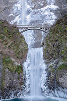 Multnomah Falls with ice. Oregon