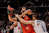 25th March 2018, Madrid, Spain; Endesa Basketball League, Real Madrid versus Valencia; Fabien Causeur (Real Madrid Baloncesto) disposseses Bojan Dubljevic (Valencia Basket)