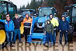 L-R Bryan McCarthy, Dylan McCarthy, Mikey Rice, Katie McCarty, Seamus Healy and Kieran Kelleher at the Kenmare Macra na Feirme tractor run.