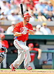 9 March 2011: Philadelphia Phillies' fielder Ross Gload in action during a Spring Training game against the Detroit Tigers at Joker Marchant Stadium in Lakeland, Florida. The Phillies defeated the Tigers 5-3 in Grapefruit League play. Mandatory Credit: Ed Wolfstein Photo