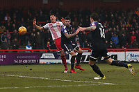 Alex Revell of Stevenage goes close during Stevenage vs Luton Town, Sky Bet EFL League 2 Football at the Lamex Stadium on 10th February 2018