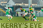 David Moran Kerry in action against Peter Nash Limerick in the Final of the McGrath Cup at the Gaelic Grounds on Sunday.