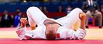 Engeland, London, 2 Augustus 2012.Olympische Spelen London.Judoka Henk Grol baalt na in de kwartfinale te hebben verloren van de Duitser Dmiitri Peters