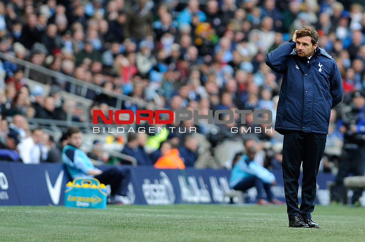 Tottenham Hotspur Manager, Andre Villas Boas looks away from the action   SPORT - Football - Manchester - Etihad Stadium - Manchester City v Tottenham Hotspur - Barclays Premier League<br /> Foto nph / Meredith<br /> <br /> ***** OUT OF UK *****