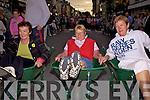 Waiting for our men... Wheelbarrow race contestants l-r; Nuala Dwyer, Mary O'Shea & Sadie Curran on Main Street Cahersiveen on Friday night.