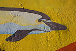 Dolphin Mural, Los Christianos harbour, Tenerife, Canary Islands