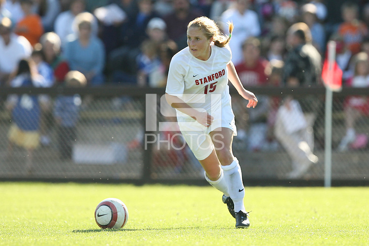 30 October 2005: Rachel Buehler during Stanford's 0-0 tie to #4 ranked UCLA at Maloney Field in Stanford, CA.