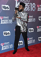 11 March 2018 - Inglewood, California - Khalid. 2018 iHeart Radio Awards - Press Room held at The Forum. <br /> CAP/ADM/BT<br /> &copy;BT/ADM/Capital Pictures