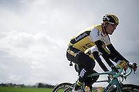 Team LottoNL-Jumbo during recon of the 114th Paris - Roubaix 2016
