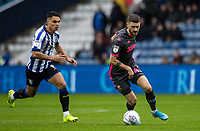 Leeds United's Mateusz Klich (right) breaks away from Sheffield Wednesday's Joey Pelupessy <br /> <br /> Photographer Andrew Kearns/CameraSport<br /> <br /> The EFL Sky Bet Championship - Sheffield Wednesday v Leeds United - Saturday 26th October 2019 - Hillsborough - Sheffield<br /> <br /> World Copyright © 2019 CameraSport. All rights reserved. 43 Linden Ave. Countesthorpe. Leicester. England. LE8 5PG - Tel: +44 (0) 116 277 4147 - admin@camerasport.com - www.camerasport.com