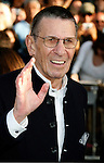"HOLLYWOOD, CA. - April 30: Leonard Nimoy  arrives at the Los Angeles premiere of ""Star Trek"" at the Grauman's Chinese Theater on April 30, 2009 in Hollywood, California."