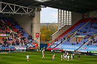 A general view of the DW Stadium, home of Wigan Athletic<br /> <br /> Photographer Alex Dodd/CameraSport<br /> <br /> The EFL Sky Bet Championship - Wigan Athletic v Leeds United - Sunday 4th November 2018 - DW Stadium - Wigan<br /> <br /> World Copyright &copy; 2018 CameraSport. All rights reserved. 43 Linden Ave. Countesthorpe. Leicester. England. LE8 5PG - Tel: +44 (0) 116 277 4147 - admin@camerasport.com - www.camerasport.com