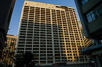 LEBANON, Beirut, war ruins , destroyed Hotel Holiday Inn / LIBANON, Beirut, im Krieg zerstoertes Hotel Holiday Inn