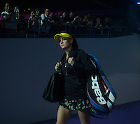 AGNIESZKA RADWANSKA (POL)<br /> <br /> The BNP Paribas WTA Finals 2014 - The Sports Hub - Singapore - WTA  2014  <br /> <br /> 21 October 2014<br /> <br /> &copy; AMN IMAGES