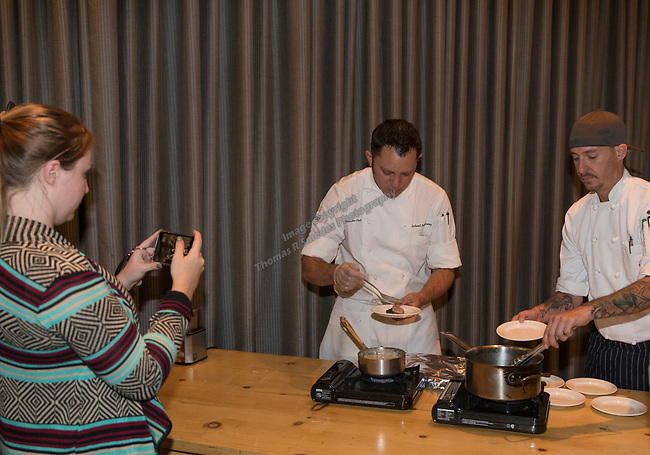 A photograph taken during a cooking demonstration by chef Michael Mahoney inside Charlie Palmer Lounge in the Grand Sierra Resort on Thursday night, October 12, 2017.