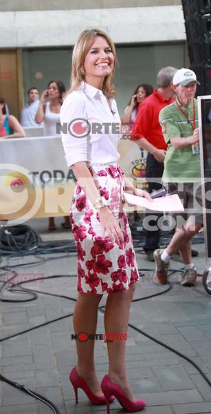 August 17, 2012 Savannah Guthrie host of  the NBC's Today Show  at Rockefeller Center in New York City.Credit:© RW/MediaPunch Inc. /NortePhoto.com<br /> <br /> **SOLO*VENTA*EN*MEXICO**<br />  **CREDITO*OBLIGATORIO** *No*Venta*A*Terceros*<br /> *No*Sale*So*third* ***No*Se*Permite*Hacer Archivo***No*Sale*So*third*