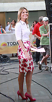 August 17, 2012 Savannah Guthrie host of  the NBC's Today Show  at Rockefeller Center in New York City.Credit:© RW/MediaPunch Inc. /NortePhoto.com<br />