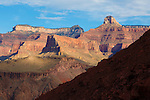 colorful canyon walls above the colorado river in the grand canyon