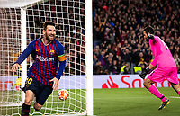 (190502) -- BARCELONA, May 2, 2019 -- FC Barcelona Barca s Lionel Messi (L) celebrates after scoring during the UEFA Champions League semifinal first leg soccer match between FC Barcelona and Liverpool in Barcelona, Spain, on May 1, 2019. Barcelona won 3-0. ) (SP)SPAIN-BARCELONA-SOCCER-UEFA CHAMPIONS LEAGUE-BARCELONA VS LIVERPOOL JoanxGosa PUBLICATIONxNOTxINxCHN  <br /> Barcellona 01-05-2019 Camp Nou <br /> Football 2018/2019 Uefa Champions League semi final <br /> Barcellona - Liverpool <br /> Foto Imago/Insidefoto <br /> Italy Only