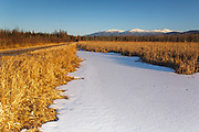 Pondicherry Wildlife Refuge - Scenic view of the Presidential Range from the Presidential Range Rail Trail / Cohos Trail near Cherry Pond in Jefferson, New Hampshire USA