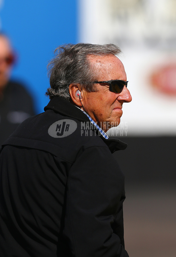 Feb 4, 2016; Chandler, AZ, USA; NHRA team owner Don Schumacher during pre season testing at Wild Horse Pass Motorsports Park. Mandatory Credit: Mark J. Rebilas-USA TODAY Sports
