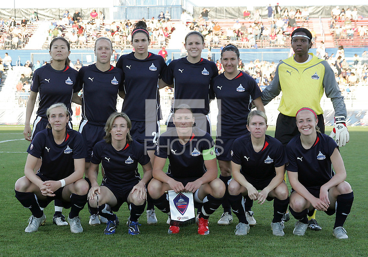 Washington Freedom starting eleven during a WPS match against the Boston Breakers at the Maryland Soccerplex, in Boyd's, Maryland, on April 18 2009. Breakers won the match 3-1.