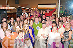 1088-1094.---------.49 Again.--------.Gerry Quinlan(standing centre) Ballionlourth, Tralee, got a hurricane of a surprise when he walked into the Grand Hotel main bar last Saturday night,to find a rocking 50th birthday party organised for him by his family,friends and neighbours.