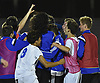 Port Washington teammates celebrate after their 1-0 win over Massapequa in the Nassau County varsity boys soccer Class AA final at Mitchel Athletic Complex in Uniondale on Wednesday, Oct. 31, 2018.