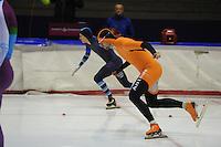 SCHAATSEN: HEERENVEEN: 25-10-2014, IJsstadion Thialf, Trainingswedstrijd schaatsen, Sebastiaan Oranje, ©foto Martin de Jong