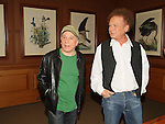 Legendary folk duo Art Garfunkel and Paul Simon have announced that they will tour Australia and New Zealand for a series of eight shows in June. Pictured at a press conference in New York City.   pic by Trevor Collens