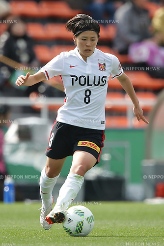 Hikaru Naomoto (Urawa), March 27, 2016 - Football / Soccer : Hikaru Naomoto of Urawa runs with the ball during the Nadeshiko League match between NTV Beleza and Urawa Reds Ladies at Ajinomoto Field Nishigaoka in Tokyo, Japan (Photo by AFLO)