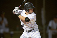 Northwestern Wildcats center fielder Jake Schieber (17) at bat during a game against the Saint Leo Lions on March 4, 2016 at North Charlotte Regional Park in Port Charlotte, Florida.  Saint Leo defeated Northwestern 5-3.  (Mike Janes/Four Seam Images)