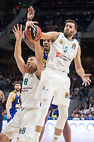Real Madrid Jonas Maciulis and Rudy Fernandez and Khimki Moscow James Anderson during Turkish Airlines Euroleague match between Real Madrid and Khimki Moscow at Wizink Center in Madrid, Spain. November 02, 2017. (ALTERPHOTOS/Borja B.Hojas) /NortePhoto.com