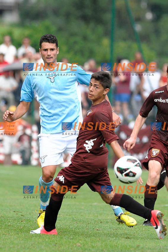 Willyan Barbosa Torino Antonio Candreva Lazio.Auronzo di Cadore 26/7/2012.Football Calcio 2012 / 2013 .Amichevole Friendly Match.SS Lazio Vs FC Torino.Foto Insidefoto.