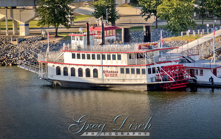 The Arkansas Queen provides riverboat cruises on the Arkansas River in Little Rock Arkansas.