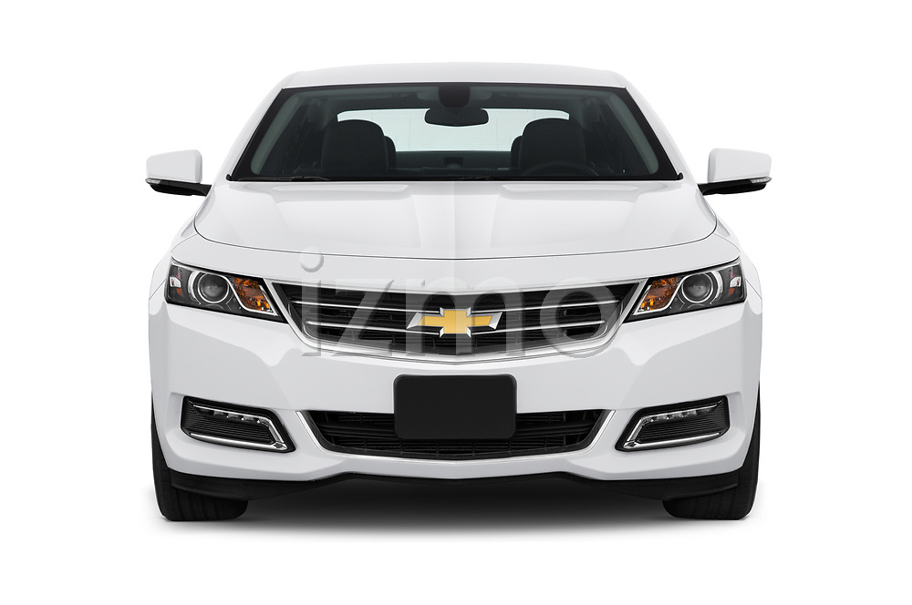 Car photography straight front view of a 2019 Chevrolet Impala 1LT Door Sedan Front View