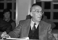Antonino Caponnetto, magistrato alla guida del pool antimafia dal 1984 al 1990.<br /> Anthony Caponnetto, magistrate at the head of the anti-mafia pool from 1984 to 1990.