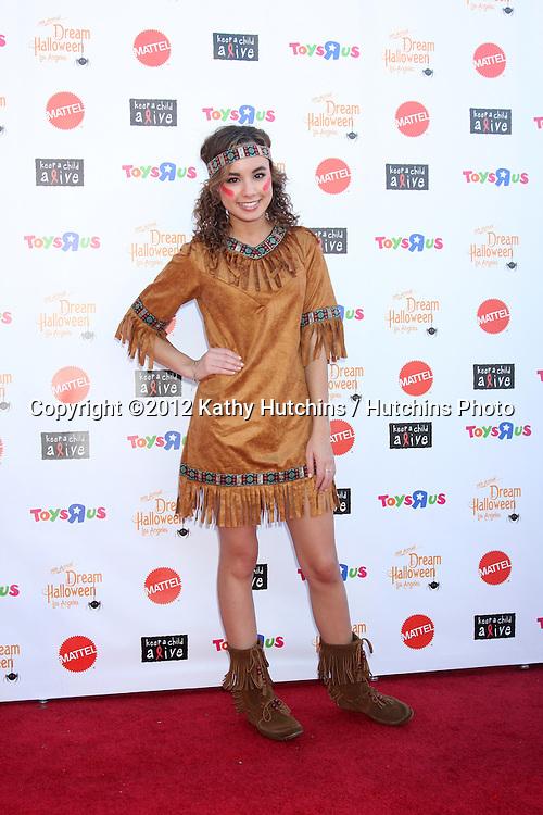 "LOS ANGELES - OCT 27:  Savannah Jayde arrives at ""Keep A Child Alive Presents 2012 Dream Halloween Los Angeles"" at Barker Hanger on October 27, 2012 in Santa Monica, CA"